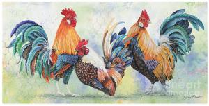Artist Jean Plout Debuts New Series Watercolor Rooster
