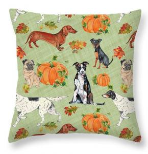 Artist Jean Plout Debuts Dogs In Pumpkin Patch Collection