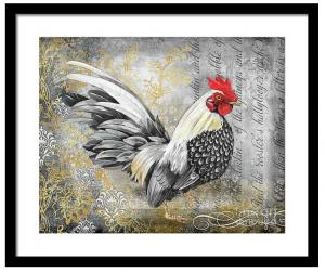 Artist Jean Plout Debuts New Gold Lace Rooster Collection