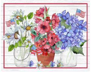 Artist Jean Plout Debuts New July Flowers On Shiplap Collection
